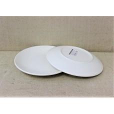Тарелка Соната (без бортов) большая (220 мм), белая, фаянс