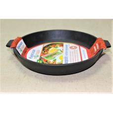 Сковорода литая чугунная 240*40 с двумя ушками