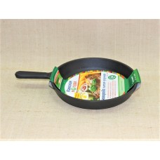 Сковорода литая чугунная 240*40 с чугунной ручкой
