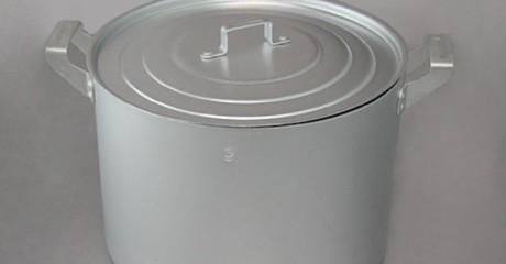 Кастрюля 8 л матовая алюминиевая